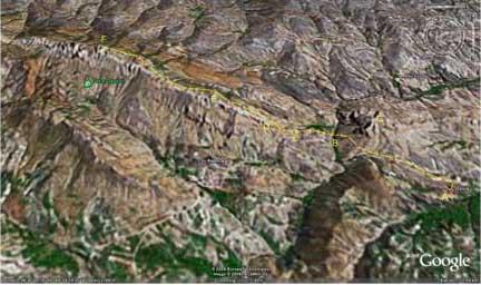 تصویر فایل GPS مسیر (برای بزرگنمایی کلیک کنید)
